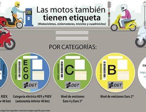 Distintivos ambientales para las motos